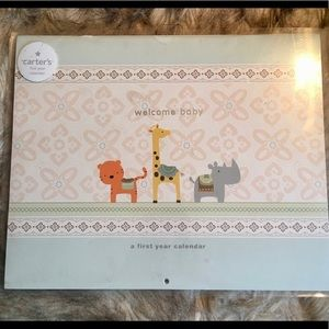 """⭐️NEW⭐️ Carter's """"Welcome Baby"""" 1st Year Calendar"""